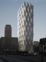 Emboss Tower: Embossed Structural Skin for Tall Buildings